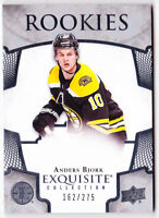 17-18 UD Exquisite Anders Bjork /275 Rookie Bruins Rookies Upper Deck 2017