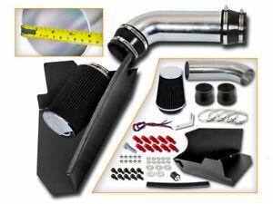 BCP BLACK 96-99 Chevy C/K 1500 Suburban 5.0/5.7 V8 Heat Shield Cold Air Intake