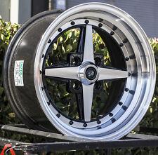15X8 Rota Zero Plus Wheels 4X100 +20mm Rims Fits Integra Civic Miata E30 Fox