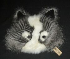 River Island One Size Novelty Faux Fur Hat Black & White Raccoon Cat ? NWT