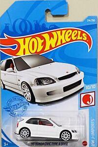 Hot Wheels '99 Honda Civic Type R (EK9) White 2021 New Release M Box