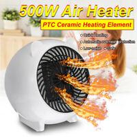 500W PTC Portable Heating Electric Heater Warm Fan Air Winter Warmer