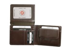 Brown Buffalo Mens Leather Wallet RFID BLOCKING Solves OYSTER CARD CLASH 3PP ✅✅✅