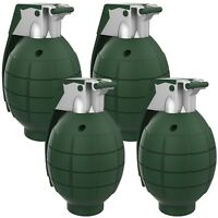 4 Pack Fake Toy Grenades Pin Sound Effects Battery Operated 4 Inch High