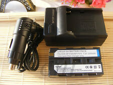 Battery PACK + Charger FOR NP-F330 NP-F550 SONY MVC-FD7 Rechargeable Lithium-ion