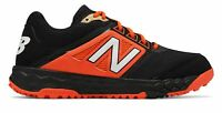 New Balance Low-Cut 3000V4 Turf Baseball Mens Shoes Black With Orange