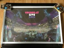 COLDPLAY LIVE 2012 PROMO LITHO POSTER HAND NUMBERED LIMITED EDITION