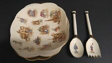 VTG Royal Winton Grimmwades Old English Markets Dish with Fork & Spoon Set
