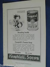 1921 Campbell's Soup advertisement, Tomato Soup, Campbells Kids leap frog