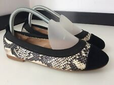 Daniel Ballerina Flats Shoes Size 37 Uk 4 Vgc  Black And Python