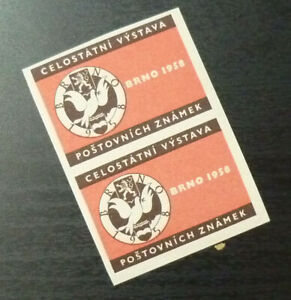 Poster Stamps - Cinderella - Czeshoslovakia Czech Brno 1958 Exhibition A22