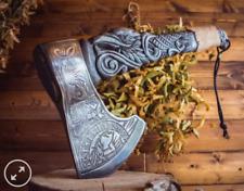 "Premium Viking Combat  Axe ""Odin's Raven""  Handmade Custom Handforged"