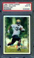 Ricky Williams Rookie Card 1999 Topps Chrome Refractor #135 PSA 9