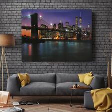 LED Light Up Lighted Canvas Painting The Brooklyn Bridge Wall Art Home Decor