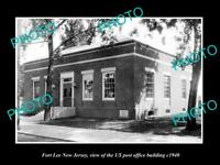 OLD LARGE HISTORIC PHOTO OF FORT LEE NEW JERSEY US POST OFFICE BUILDING c1940