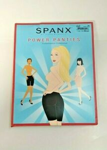 SPANX Mid Waist Power Shapewear Panties Performance Underwear Black Size C #408