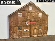 "G Scale Scratch Built ""BROWN BARN"" Garage Farm Flat 1/24 1/32"