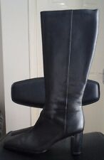 MARKS AND SPENCER LEATHER KNEE HIGH BOOTS SIZE 61/2 BLACK BNWT