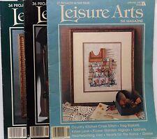 Lot of 3 Leisure Arts The Magazine Cross Stitch + Crafts 1987 Vintage Used  1273