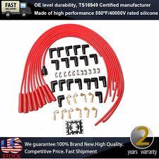8mm Universal Spark Plug Ignition Wire Kit Set For Ford Buick Dodge Chevrolet V8
