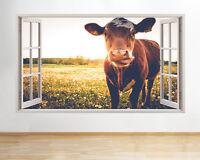 Waterproof Switch Autocollant Mural Noir Mignon Vache Autocollant Maison Chambre décorer