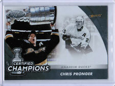 11/12 CERTIFIED CHRIS PRONGER 13 STANLEY CUP CHAMPIONS INSERT CARD ANAHEIM DUCKS