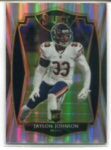 2020 PANINI SELECT FOOTBALL PREMIER RC #195 JAYLON JOHNSON SILVER PRIZM