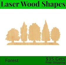 Forest Laser Cut Out Wood Shape Craft Supply - Woodcraft Cutout
