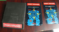 Vintage 1982 Intellivision Night Stalker Video Game Cartridge with Overlays