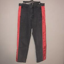 BDG Urban Outfitters Gray Jeans Men's Size 34 Red Side Stripe Baggy Denim NWT