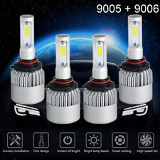 9005 9006 2600W 195000LM Combo LED Headlight Kit High Low Beam Bulbs 6000K White