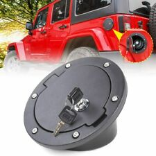 Locking Gas Fuel Cap Door Cover For 2007-2017 Jeep Wrangler JK & Unlimited Tank
