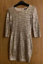 TFNC Gold Lined Sequin Dress Size Small