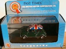 AUSTIN MINI BRITISH RACING GREEN VANGUARDS 1/43 ENGLAND VA01311 VERT UNION JACK