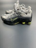 NIKE SHOX Size 6.5  Women's Gray Green 312857-006 Running Shoes Lace Up Low Top