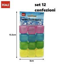 Set 144 Pz Cubetti Ghiaccio Finto Colorati Freezer Cocktail Riutilizzabili hmj