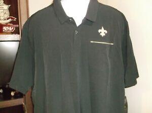 New Orleans Saints Nike Dri Fit Polo Shirt Size Men's Medium nwt Free Ship