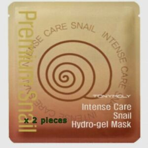 NEW TONYMOLY Intense Care Snail Hydro-gel Mask -  2 pieces exp 12/2022