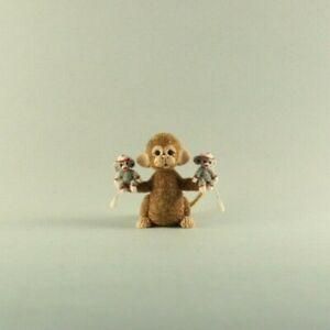 OOAK~Monkey~Sock Monkeys~Mini~Artist Doll~Sculpt~Baby Toy~Dollhouse~Cheryl Brown