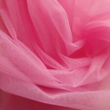 Cerise Mid Pink Fine Tulle fabric 300cm wide - by the M - Bridal Prom Princess