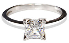 1.75Ct D-Color Princess Shape Solitaire Engagement Ring In 925 Sterling Silver