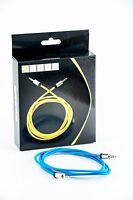 7even Aux 3,5mm Mini-Klinken und Kopfhörer Textil Kabel, Blau