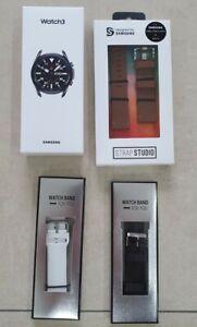++ NEU OVP ++ Samsung Galaxy Watch3 45mm Edelstahl Mystic Black LTE + Armbänder