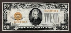 1928 $20 Gold Note, VF