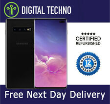Samsung Galaxy S10+ S10 Plus - Black 128GB Phone Unlocked & Sim Free + Warranty