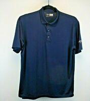 Callaway Opti-Dri Short Sleeve Men's Medium Golf Polo Blue Solid