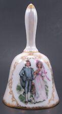 Vintage Norcrest Pink Blue Boy Girl Couple Porcelain Bell