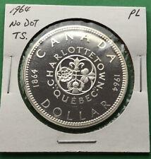 1964 Canada Silver Dollar $1 Proof Like No Dot in TS