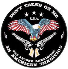 Patriotic Don't Tread On Me 2nd Amendment USA Biker Patch FREE SHIP