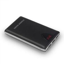 UK 50000mah Portable Power Bank LCD 2 LED 3 USB Battery Charger for Smart Phone Black Universal
